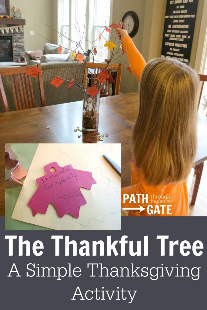 The Thankful Tree Craft is so easy, but turned out so cute! I love Thanksgiving crafts that encourage thankfulness - the true reason for celebrating Thanksgiving.