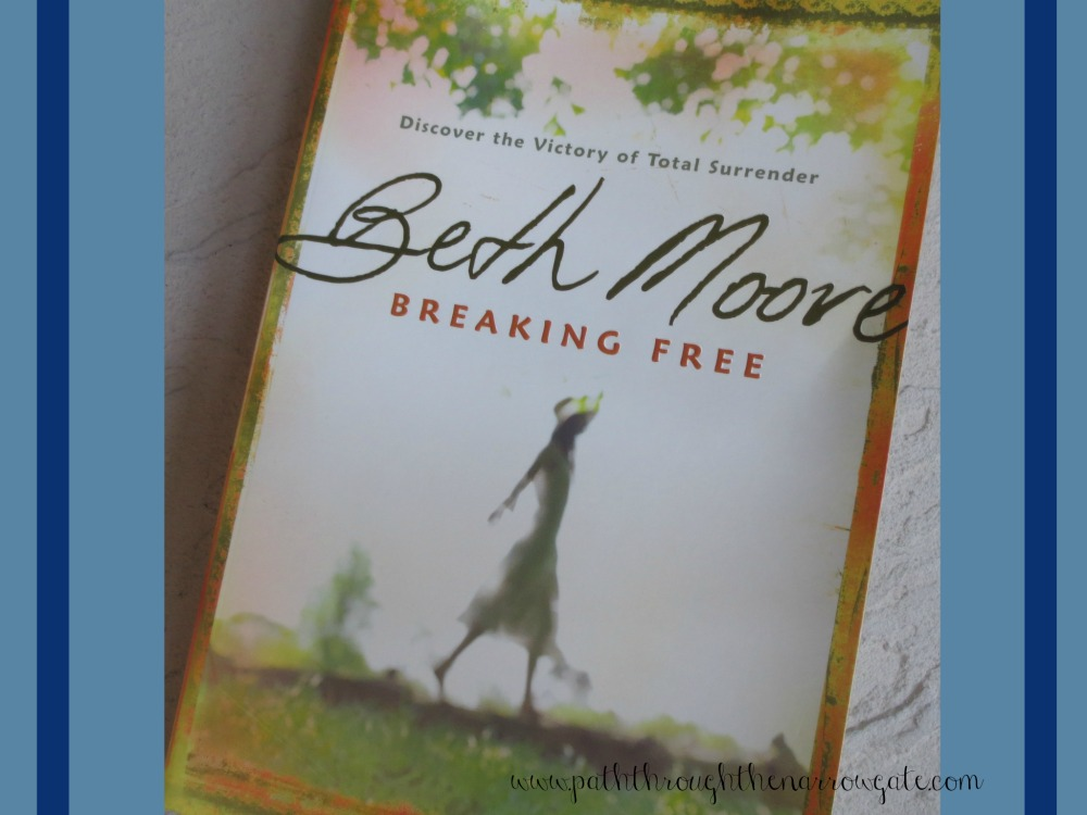 "Are you frustrated in your spiritual life because you feel trapped in a cycle of sin? Breaking Free: Discover the Victory of Total Surrender by Beth Moore encourages women to break away from the ""strongholds"" of sin in our lives so that we can lead victorious lives that honor God."