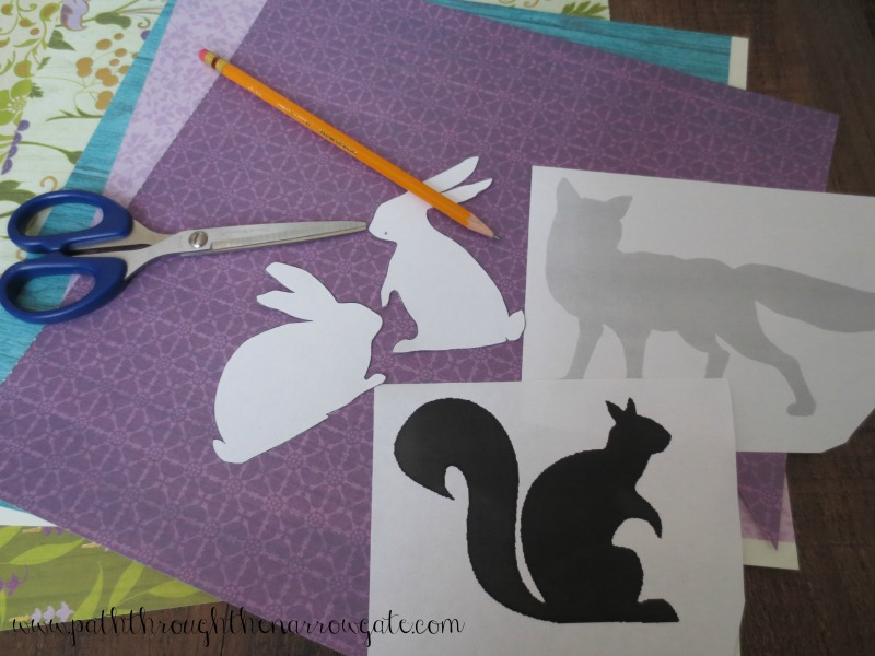 This article shows how to use inexpensive scrapbook paper to make silhouette wall art. This could be adapted to any room style and is so simple to make. My kids would love this in their rooms! I want to save this so that I can remember it when I redecorate their rooms.