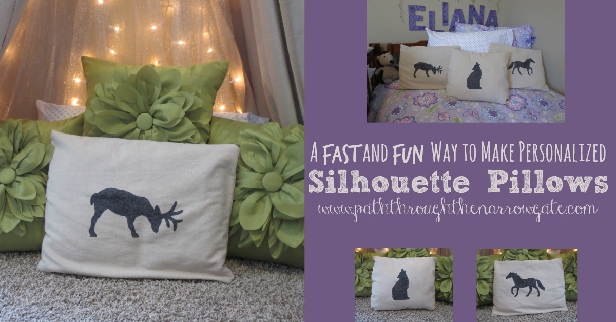 Do you want to add a bit of whimsy and personality to your child's room without breaking the bank? Try making these personalized silhouette pillows. These pillows make a big statement in any room.