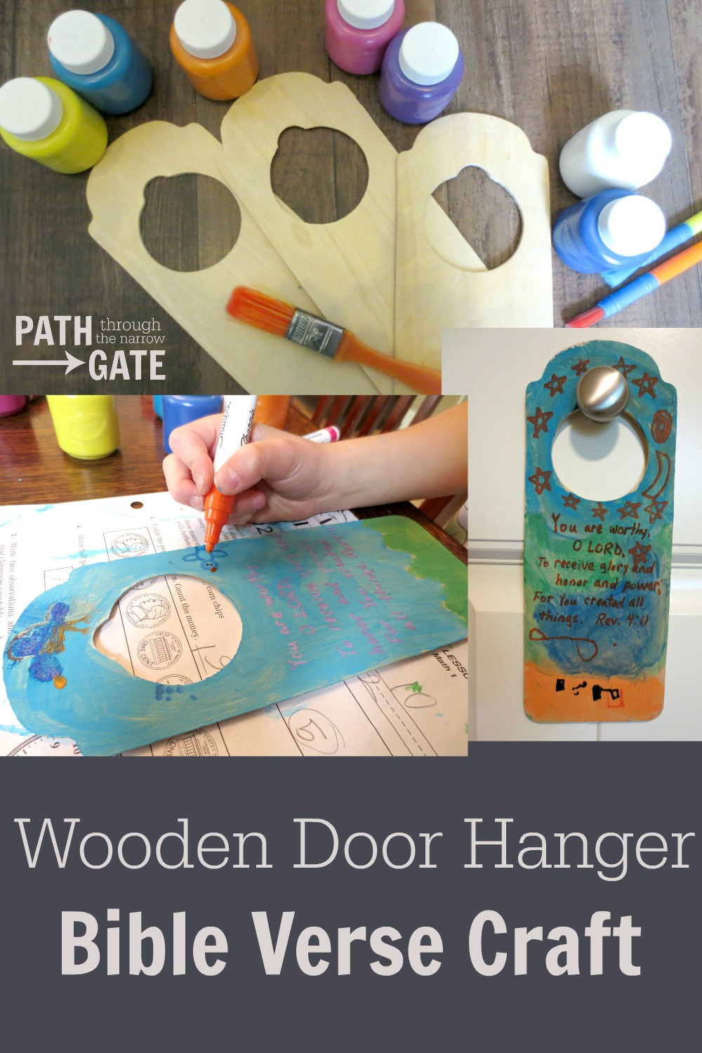 Are you looking for an inexpensive but enjoyable craft to help your children learn Bible verses? This Bible verse door hangers craft is a fun way to do just that!