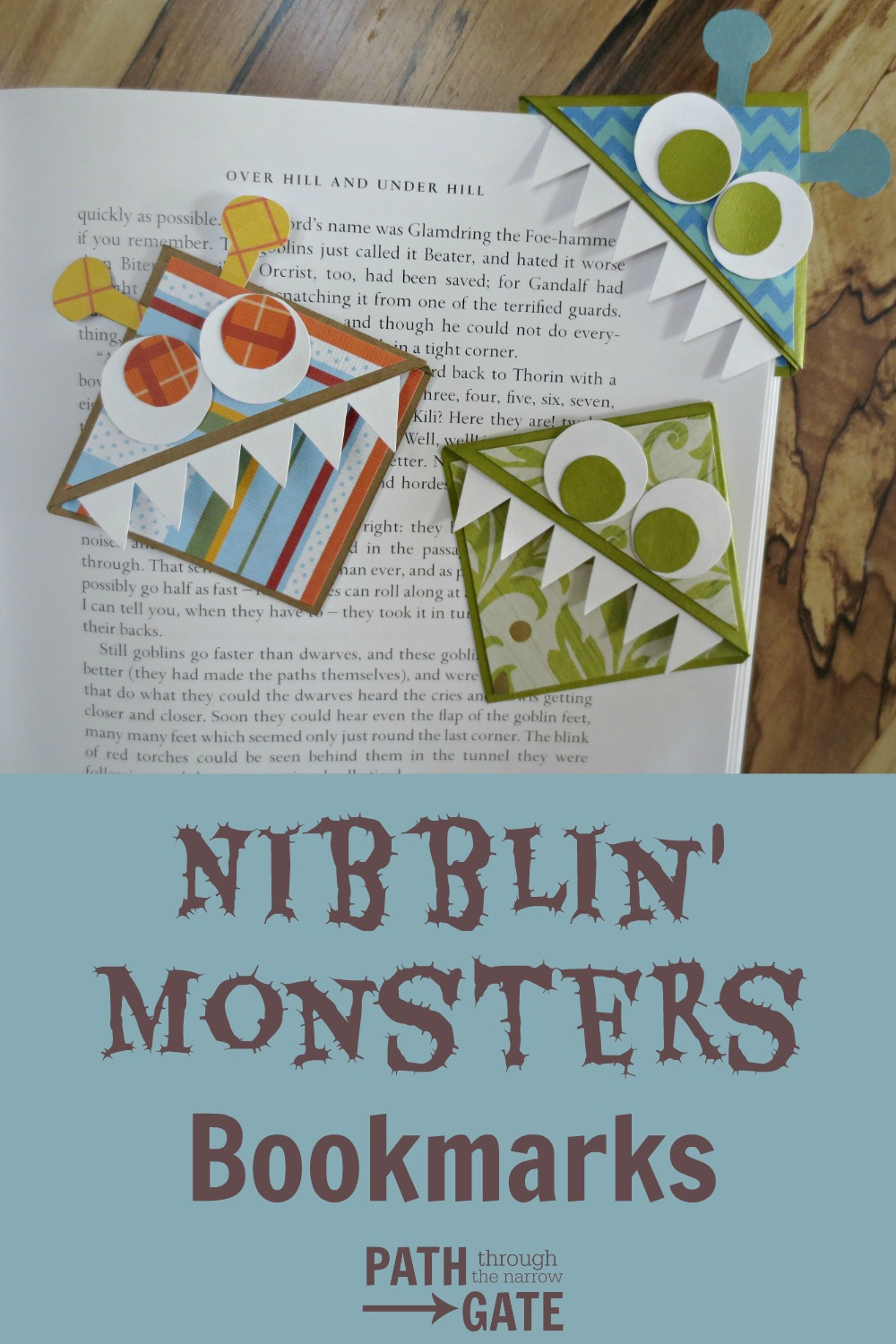 Do you have a hard time finding your place in your book? Are you always short on good bookmarks? These adorable Nibblin' Monsters Bookmarks are fun to make and fun to use! Try them today!
