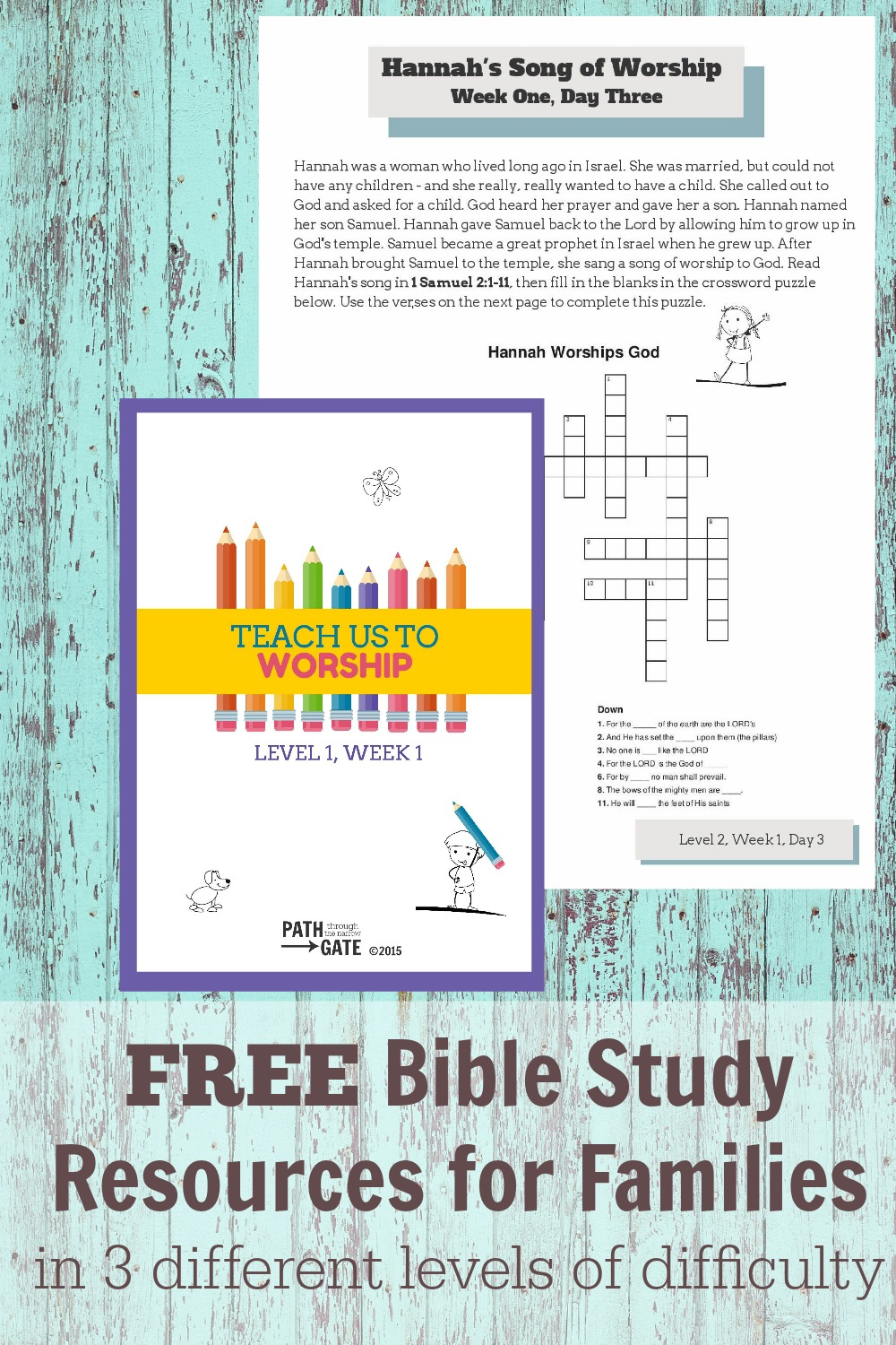 Teach Us to Worship is a family Bible Study designed to help busy families learn to worship God together through fun activity sheets and thoughtful questions.