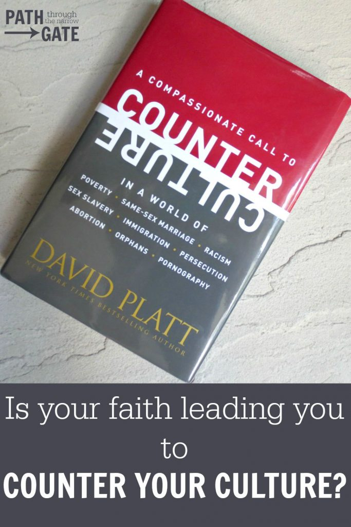 Counter Culture is an excellent book reminding us that God has called us to stand against our culture when our culture is wrong.