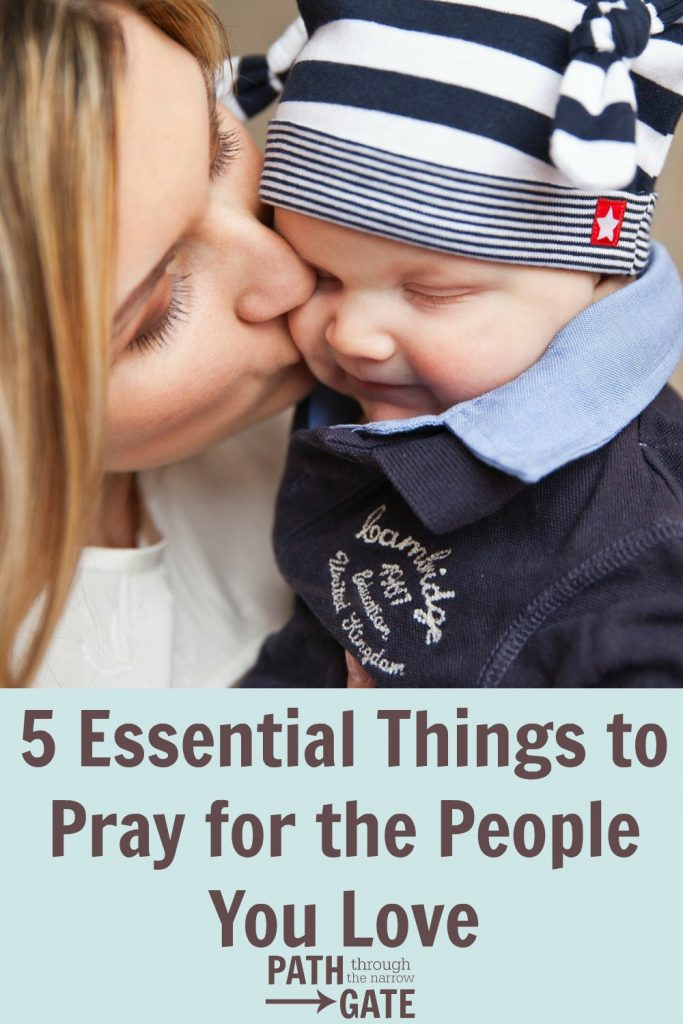 Do you pray for your loved ones? Paul's prayer in Colossians 1:9-14 shows us 5 essential things to pray for the people we love. This post includes a printable prayer guide and bookmark.