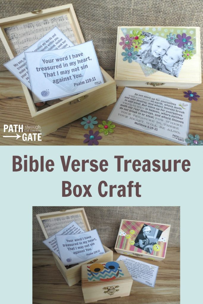 Would you like to encourage your kids to treasure God's Word in the their hearts? Help them make a beautiful Bible verse treasure box to store their favorite verses. This post includes three printable verses to get you started.