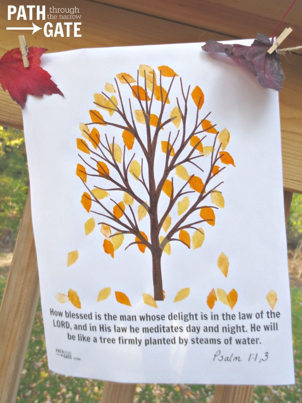 fall tree craft 9