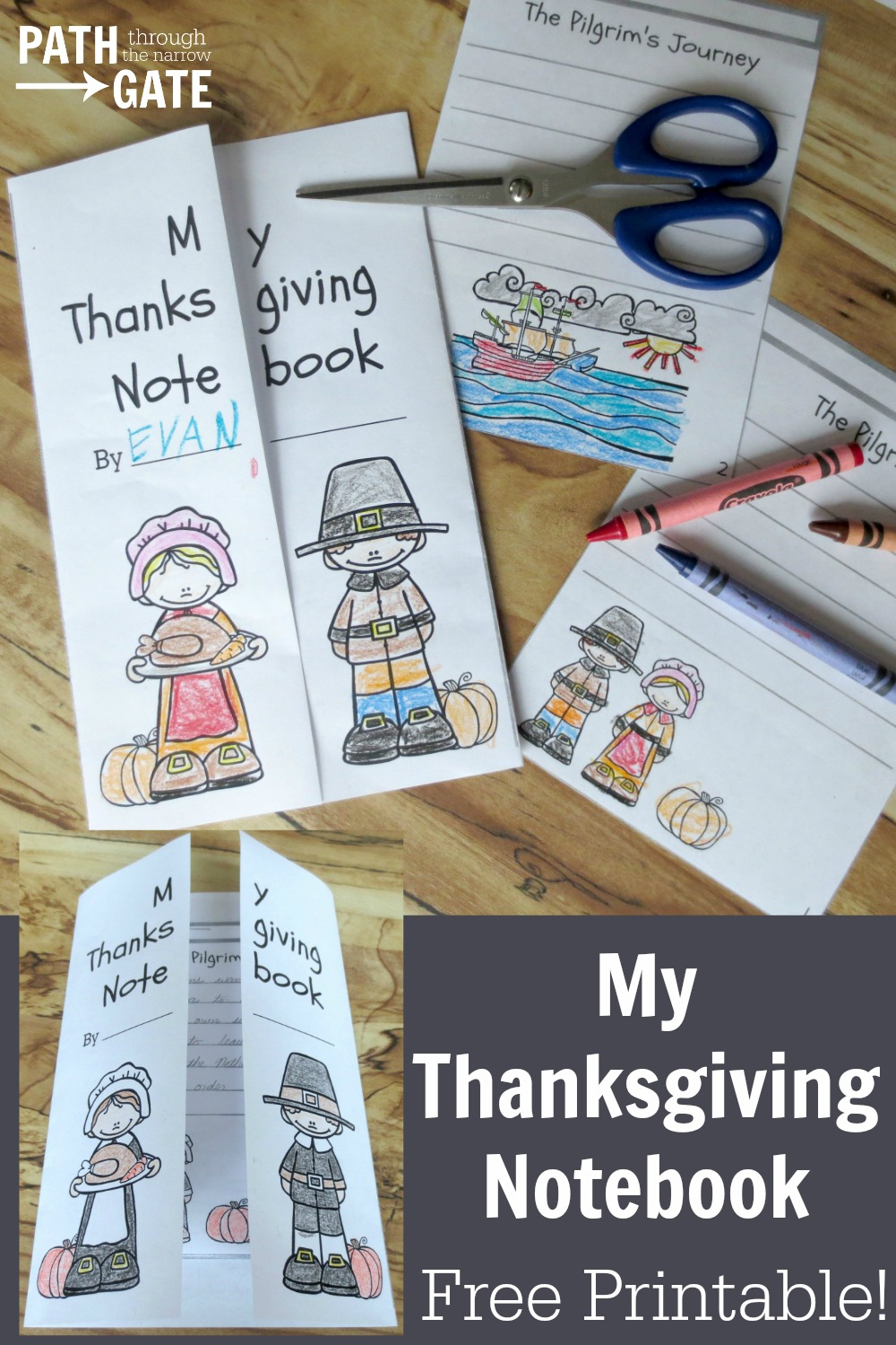 Teach your kids what Thanksgiving is all about with this fun Thanksgiving notebook, an activity that younger and older kids will both enjoy!