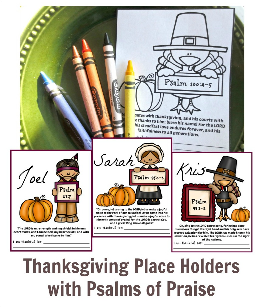 Thanksgiving place holders index