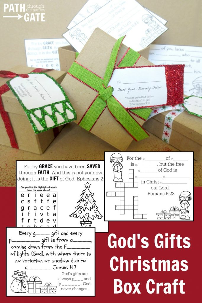 This simple yet adorable Christmas craft points kids back to the true meaning of Christmas - that God sent His Son to save us from our sins. Would be perfect for a craft at home or at church.