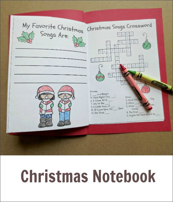 Christmas notebook index 2