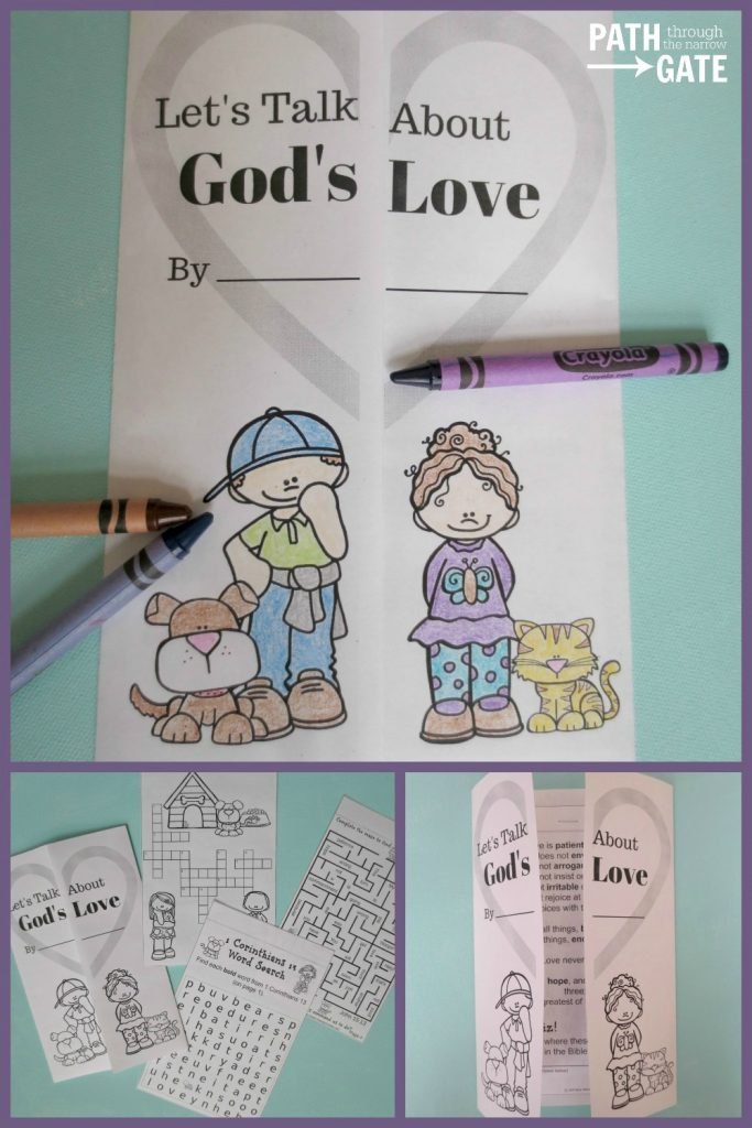 Free Printable God S Love Bible Verse Notes Path Through