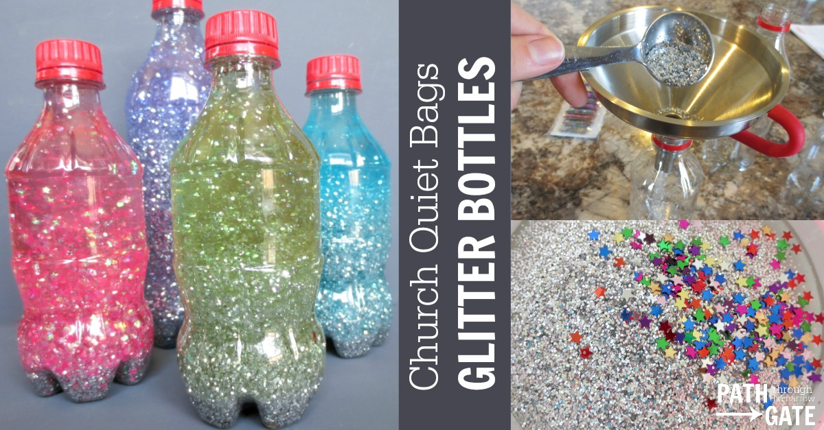 Church Quiet Bags Glitter Bottle Path Through The Narrow