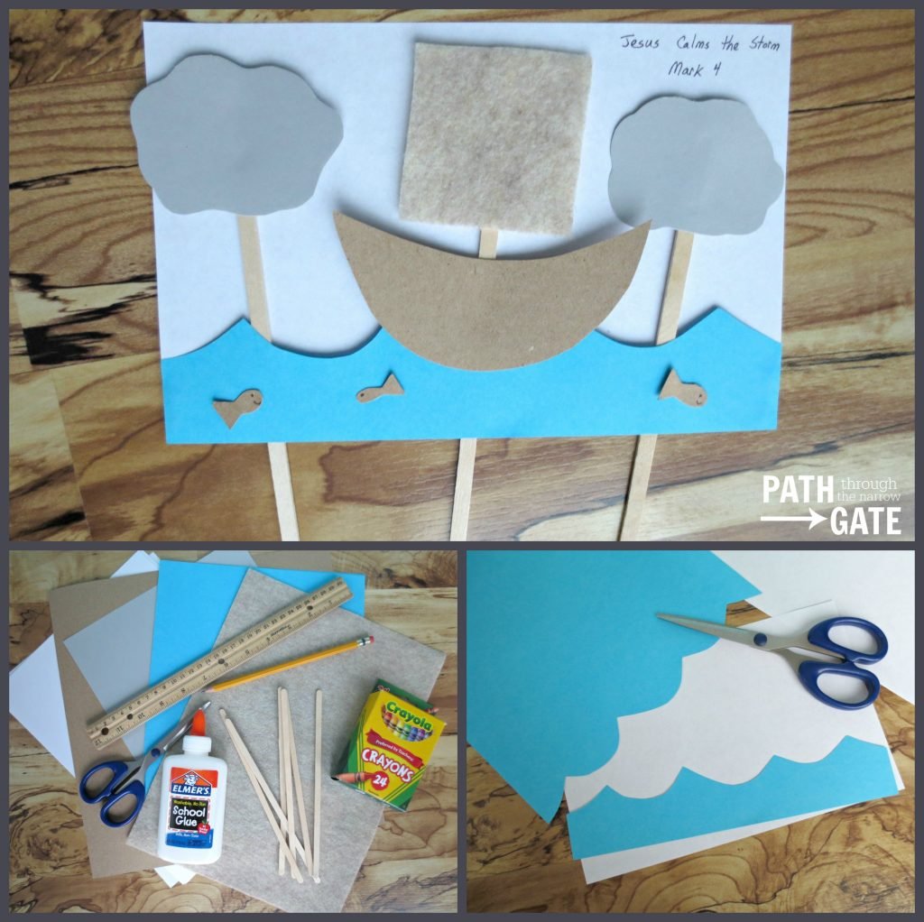 Jesus Calms the Storm Activity/Craft is perfect for teaching young children at church, home, or school.|Path Through The Narrow Gate.com