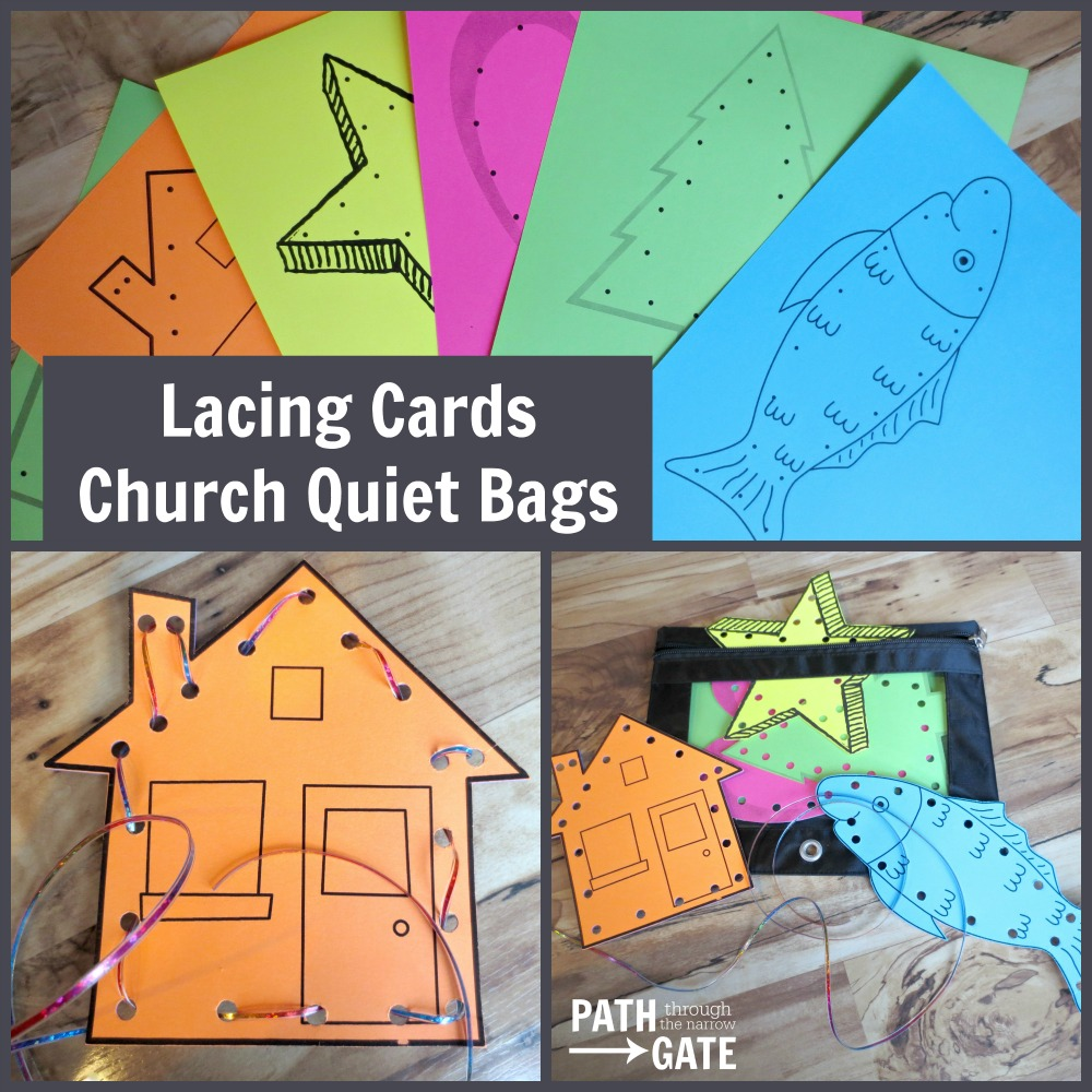 Lacing Cards Church Quiet Bag|Path Through the Narrow Gate