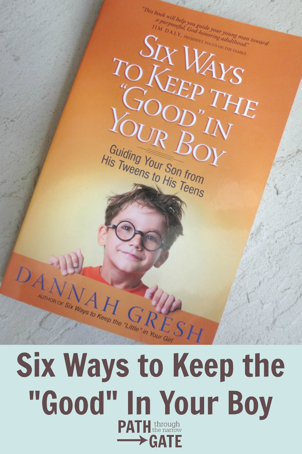 In Six Ways to Keep the Good in Your Boy, author Dannah Gresh identifies the dangers boys face, and offers hope and help in overcoming these dangers.
