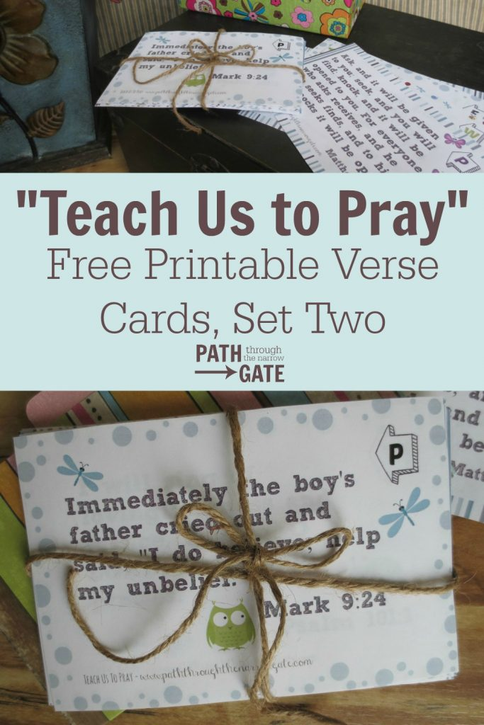 Teach Us To Pray Easy Verse Set 2 Pin