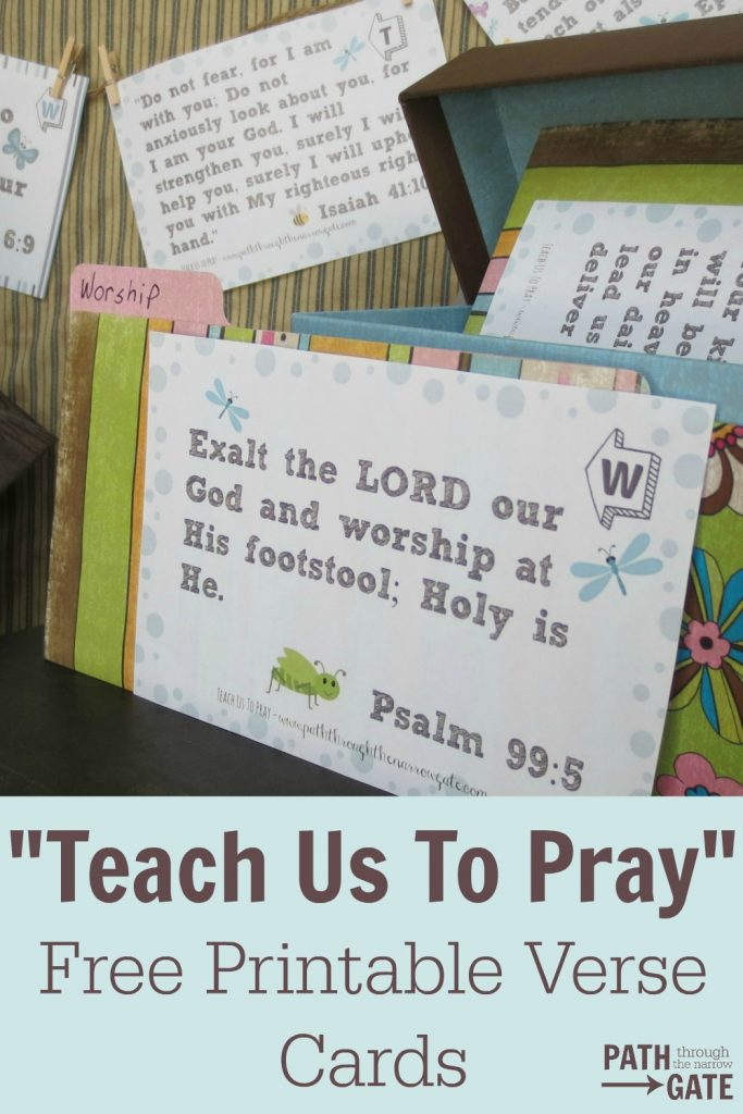 Teach Us To Pray Easy cards set one pin 1