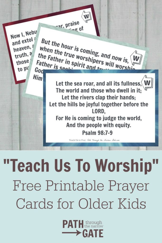 worship verse cards pin