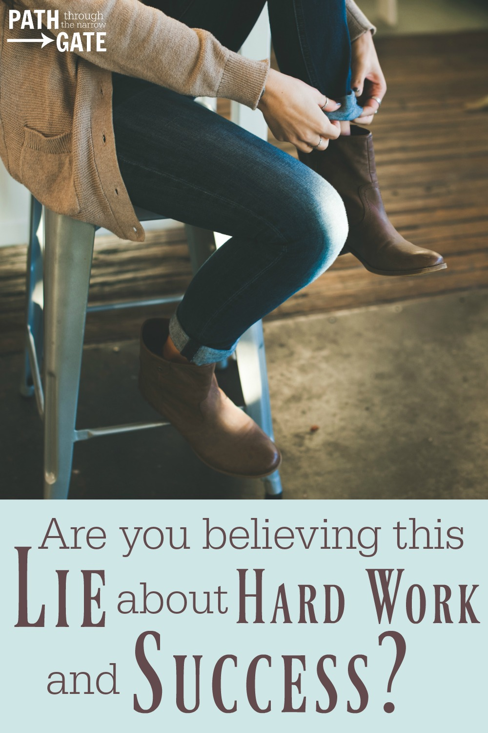 "Do you ever find yourself believing this lie: ""If I work hard enough today, tomorrow will be so much better.""? Here's what the Bible says about our work."