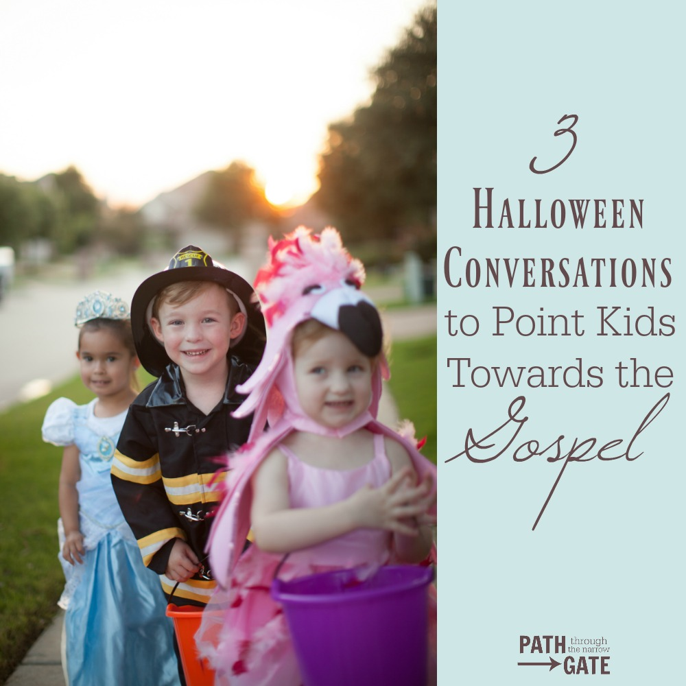 These excellent Halloween conversation ideas will help you talk to your kids about how Halloween relates to the Gospel - this is so helpful!