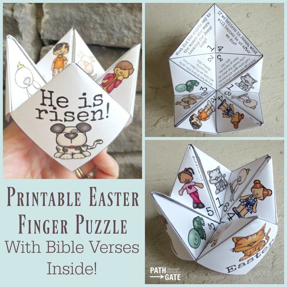Printable Easter Finger Puzzle With Bible Verses Perfect For Home