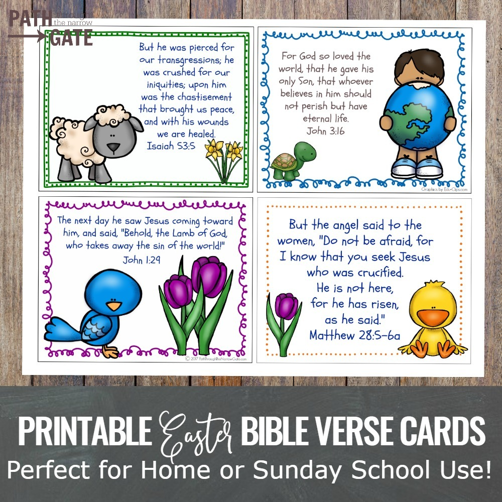 Easter Bible Verse Cards Set Path Through the Narrow Gate – Easter Verses for Cards