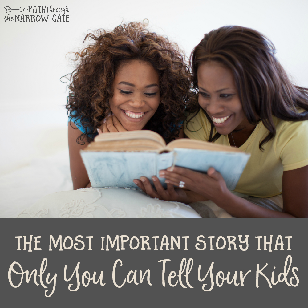 There's a story that many Christians parents never think to tell their kids. Have you shared your testimony with your kids?