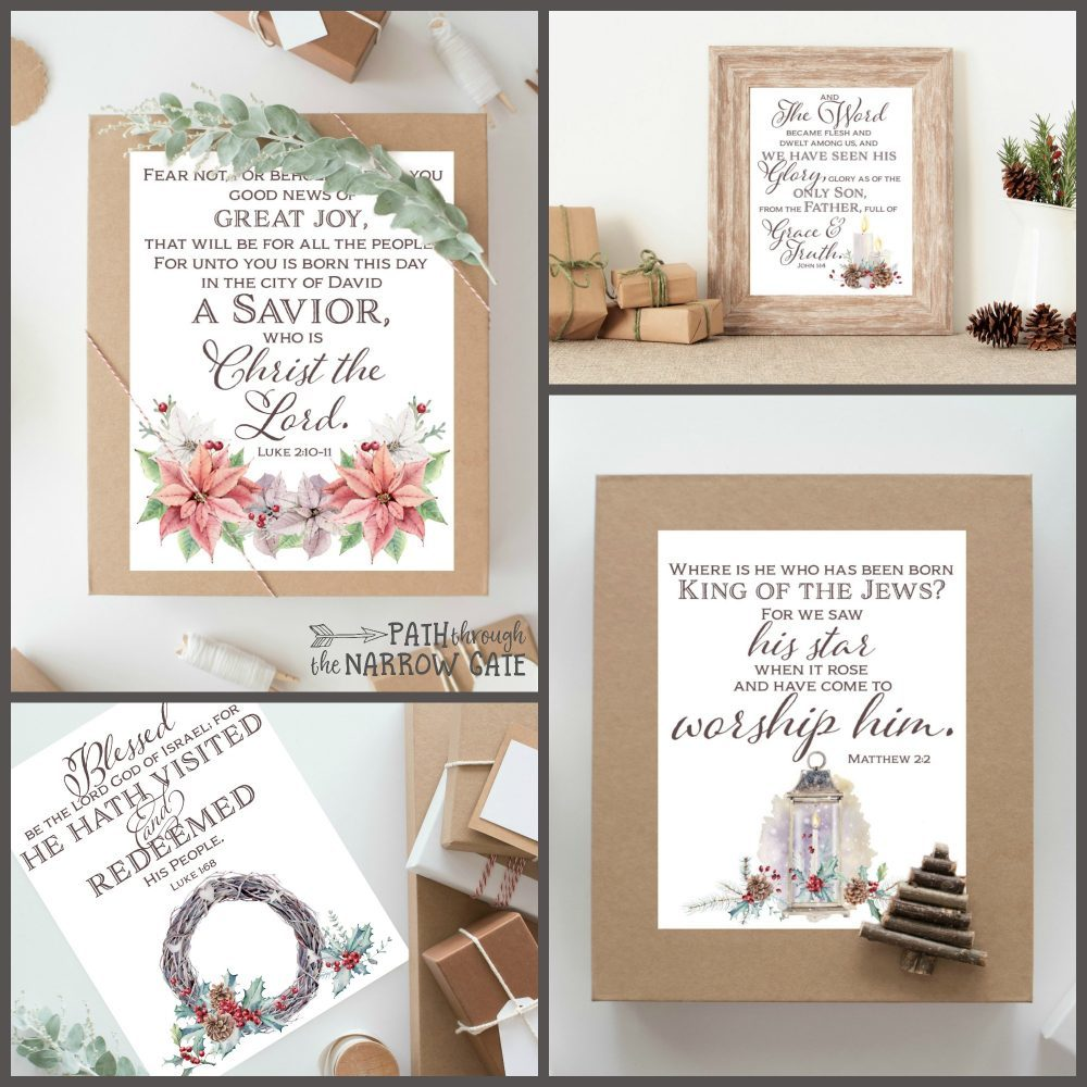 Remember the true meaning of Christmas with these Christmas Bible Verse Printables - perfect to use as gifts or keep for yourself.